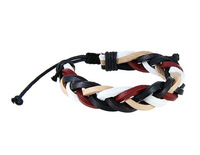 Free Shipping Simple But Cool Design For PU Leather Bracelet  LHPM-28D