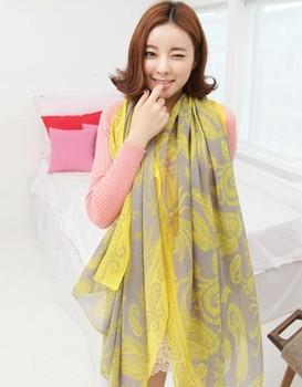 Free Shipping !2014! Temperament Excellent,  Irregular Decorative Pattern Voile Fashion  All seasons Women Scarf Shawl. L-126