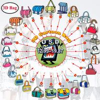 2015 new designed women 3d shoulder bags cartoon gismo messenger bag 2d 3d cross body free shipping