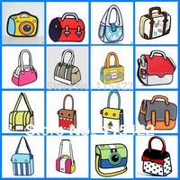 2015 top sale women 2d 3d cartoon handbag canvas shoulder bag gismo comic messenger bag tote free shipping