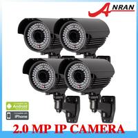 4PCS 2MP Outdoor Camera 1080P HD H.264 Onvif Zoom Varifocal lens 2.8-12mm 78IR Surveilance Security Camera IP Network Camera