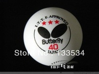 wholesale pingpong balls table tennis balls butterfly table tennis 3 stars ping pong balls butterfly 1 box 3 balls