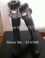 Free shipping socks fur ankle sock klaas rainboots rain boots socks Leopard grain socks wellies wool socks 0048
