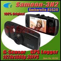 100% Original Samoon 3H2 Car DVR Camera GS6000 Ambarella A5S30 GPS Logger G-Sensor 256M Memory Full HD 1920*1080P 30FPS