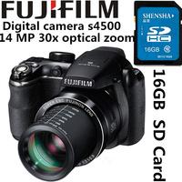 DHL Free shipping Original Fujifilm telephoto HD digital camera s4500 14 MP 30x optical zoom video recording with 16GB SD card