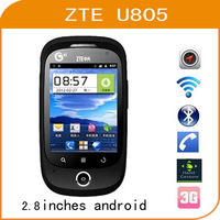 free shipping ZTE U805  mobile old man elular android   cheap GPS   phone watch cellular phone
