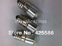 (3pcs) Wholesale LED E10 1W  recessed screw LED light  3V  3PCS  E10 1W screw base LED flashlight bulb 3V