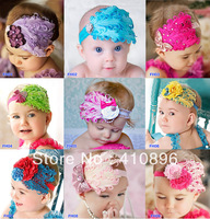 Cuter!!! New Fashion Hot Infant Baby Toddler Feather Flower Diamond Bow Headband Soft Headwear Hair Band FH01-FH09