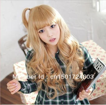 Free Shipping, anime wig non-mainstream wig, fashion wig, long curly hair wig big wave
