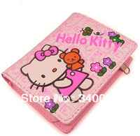 Hello Kitty Children Wallet PU Leather Folding Women Purse Money Clip Free Shipping