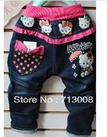 2013 autumn girls fall paragraph denim trousers children jeans  children's trousers 1lot=4pcs wholesale
