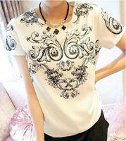 New 2014 Blusas Femininas All-match Personality Vintage National Trend Porcelain Print Pattern Chiffon Women Tops Blouse Shirt