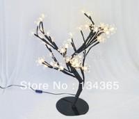 LED tree light 3W Rrubber petals 48 warm white LED light Modern LED Bonsai Tree  LED Fairy Lights / Twig Lights Table Lamp