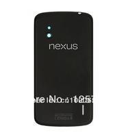 Original Back Cover Glass For Google Nexus 4 LG E960 Black Battery Door case Housing Repair Part Save Money Free Shipping Track