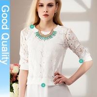 za** fashion 2014 autumn new doll collar lace chiffon shirt plus size long sleeve shirts chiffon blouse casual shirt tops brand