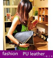 pu leather handbag for women rivets v word shoulder bag messenger cross body bags bolsas femininas lady envelope clutch freeship