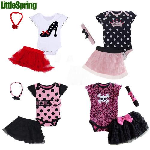 2014 summer baby Set romper headband skirt girl fashion cotton toddler jumpsuit infant Carters bodysuit 3 pcs baby clothing set(China (Mainland))