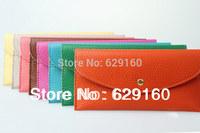2013 female Long purse  card bag  envelope bags  candy 16 colors  small bag,Woman fashion Wallets