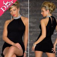 2014 women Slim sexy club tight dress halter neck shoulder hip dress stylish evening dress roupas femininas vestidos de fiesta