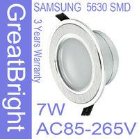 6pcs/lot 7W led recessed downlight lamp dimmable 110V  220V 240V AC85-265V 3years warranty :TDB07