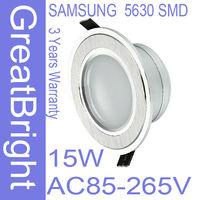 16pc/lot 15W led recessed downlight lamp dimmable 110V  220V 240V AC85-265V 3years warranty :TDB15