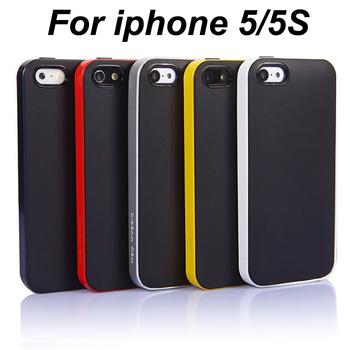 50pcs Wholesale Without Retail Box SGP Spigen Neo Hybrid Mobile Phone Bag case for iPhone 5 5S,Mix Colors+Free Screen protector