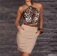 2014 New Summer Dress OL Elegant Career Dress Women Work Wear Sexy Leopard Printed Dress Mini Bodycon Casual Dress 9014