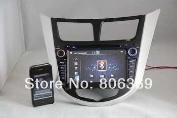 3G HOST + Free shipping+Special CAR DVD for Hyundai Verna/ Solaris /accent with Radio DVD,IPOD,GPS,ATV,BT,RDS all+4G MAP gift