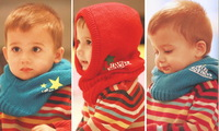 new 2013 free shipping boys girls children kids baby  Winter warm  Knit Unisex Cap Hooded scarfs