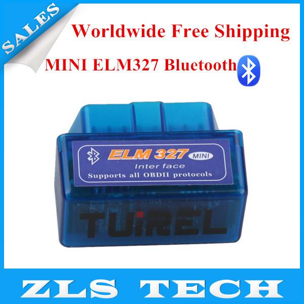 2015 Hot Sales MINI ELM327 Bluetooth Hardware V2.1 ELM 327 Interface OBD2/OBD II Auto Code Scanner Free Shipping(China (Mainland))