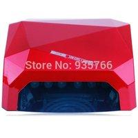 Free Shipping CCFL+LED 36W Light Diamond Shaped Best Curing Nail Dryer Nail Art Lamp UV Gel Nail Polish