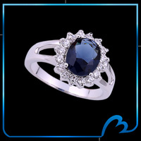 New fashion Queen Rings Titanic Ocean Heart platinum plated ring for bridal wedding romantic Valentine's Day gift