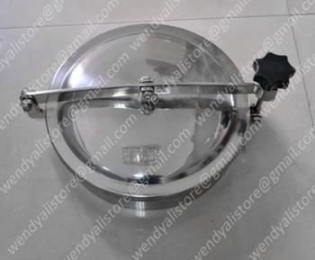 Stainless steel YAB manhole /AISI304 tank manhole cover/500mm round manhole door