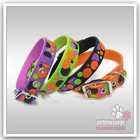 Pet Product  Retail Dog Pet Collar Lead Large Dog Collar Leash PVC Nylon Leather Price Include The Leash 1set/lot