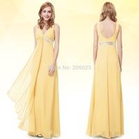09701 Ever Pretty Sexy V-neck Spaghetti Straps Printed Satin Bow Evening Prom  Dress 2014