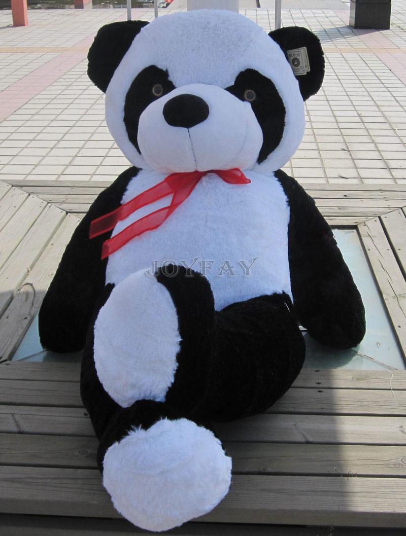 Cute Big 40 inch 100 cm Panda Bear Stuffed Plush Animal Toy Best Valentine Gift for Kids Children(China (Mainland))