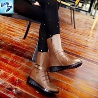 high-heeled boots 2013 winter new fashion women's boots comfortable low-heeled boots Thick Heel warm Martin boots knight 588