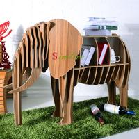 Wood Elephant table for living room decor,diy animal furniture,animal bookshelf,lucky elephant puzzle table home deocration