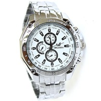 Watches stainless steel Black And Blue 2013 New Hot White Fashion Partysu Watch New Brands Round Watches Free Shipping