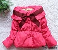 Bow ruffles outwear,sweet style collar thick coat