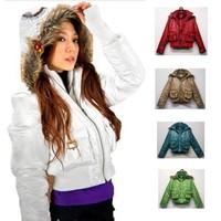 Faux Two Pieces Detachable Hat Cotton Fashion Outerwear Women's Warm Jacket Winter Parka Women Hooded Down Jacket Coat Female