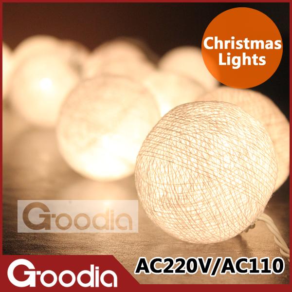 christmas lights luminarias home decoration,garland string lights,AC110V/220V with 20pcs bulb ball,christmas outdoor decoration(China (Mainland))