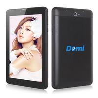 7 inch 3G phone call GPS android 4.2 tablet pc DOMI X6 MTK8312 Dual core 1GB RAM 8GB ROM dual camera bluetooth 3G WCDMA