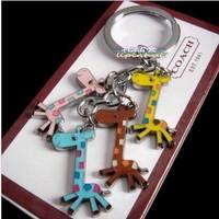 giraffe keychain novlty items christmas gift cute key ring for women trinket gadget free sipping promotional keychain