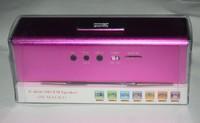 FREE SHIPPING!2014 wholesale 4psc/lot  music speaker Mini  Speaker Portable Sound box with TF Card reader USB + FM Radio