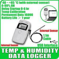 Free shipping Temperature Humidity Data logger RC-4HC Recorder Internal External Sensor C & F 99% RH