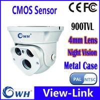 Free shipping CWH-4333ZKC 900TVL cmos HD camara de seguridad LED IR Dome telecamera CCTV camera PAL/NTSC