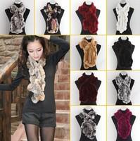 Super 2013 fashion warm new best Rex rabbit fur shawls scarfs