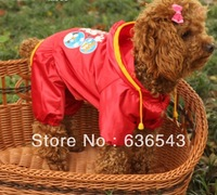 Free Shipping 1PC XS S M L XL Waterproof Pet Raincoat Pet Clothes