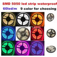 5M 60led/m 12V DC SMD 5050 RGB/white/pink/red  waterproof Flexible bright festival LED strip light